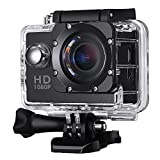 Action Camera,Sporthomer Sports Cam Full HD 2.0 Inch 1080P No Wifi Sport Action Camera with Waterproof 140°Wide Angle Lens Action Camcorder DV2 Black