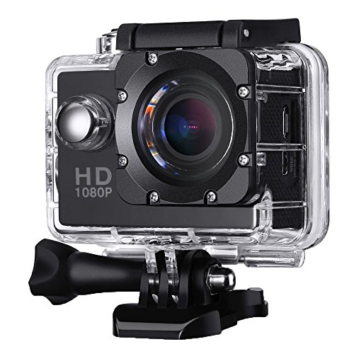 Action Camera,Sporthomer Sports Cam Full HD 2.0 Inch 1080P No Wifi Sport Action Camera with Waterproof 140°Wide Angle Lens Action Camcorder DV2 Black by Sporthomer