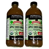 International Collection Organic Apple Cider Vinegar, 16 Ounce (Pack of 2)