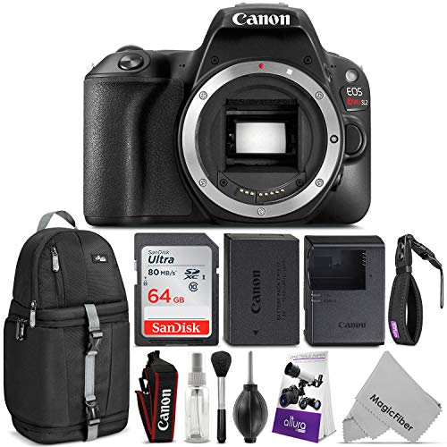 Canon EOS Rebel SL2 DSLR Camera Body w/Advanced Photo & Travel Bundle - Includes: Altura Photo Backpack, SanDisk 64gb SD Card, Wrist Strap and Cleaning Kit