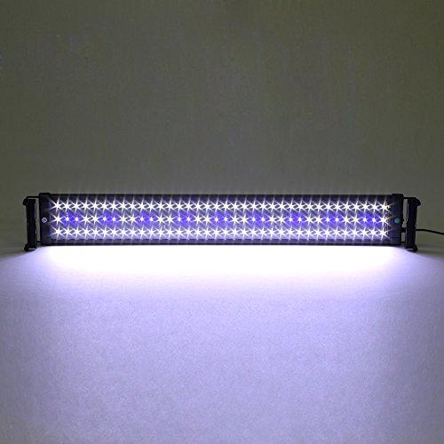 Deckey Aquarium Beleuchtung LED Aquariumlicht Aquariumleuchten Aquariumlampen Aufsetzleuchte 75cm weiß+blau (75cm)