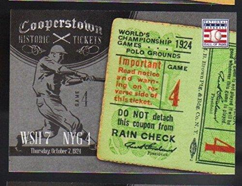 - 2013 Panini Cooperstown Historic Tickets Insert #6 1924 World Series