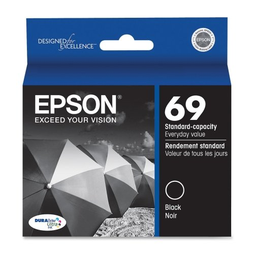 Epson 69 Compatible Black Ink (Epson 69, (T069120-S) DuraBrite Ultra Black Ink Cartridge)