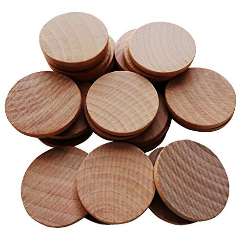 AxeSickle 1.5 inches Natural Schima superba unfinished round wood,These round wood coins The limitations are endless!(200-pcs)