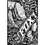 Fox Racing In the Black Sheet Sticker Packs Off-Road Motorcycle Graphic Kit Accessories - One Size