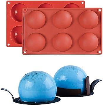 KBstore Molde Antiadherente de la Torta de Silicona - Forma de Semi Esfera Hemisferio Moldes de Silicone para Repostería Bizcocho/Chocolate/Pudín/Jabon/Pastel/Pastelería #2: Amazon.es: Hogar