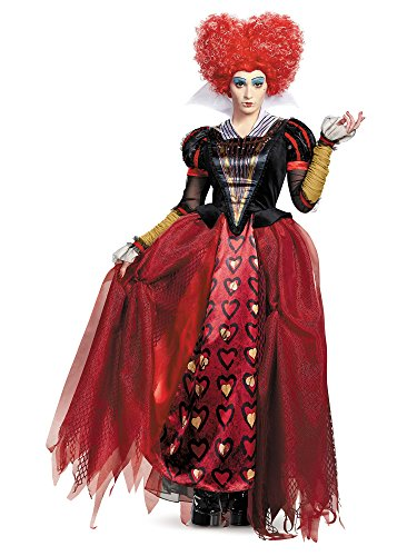 Disney Women's Alice Queen Deluxe Costume, Red, Large -