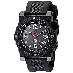 REACTOR Men's 43801 Titan Analog Display Swiss Quartz Black Watch