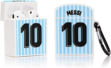 Best Gift for Kids Boys Girls Jersey Blue LEWOTE Silicone Case Compatible for Apple Airpods 1/&2 Funny Cover Cool Design