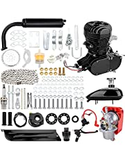 ExGizmo 100cc 2-Stroke Bicycle Gasoline Engine Motor Kit DIY Motorized Bike Single Cylinder Air-cooled (Black-100cc)