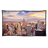 ZUEDA 84 inch Projector Screen Portable Foldable Indoor Outdoor Projection Movies Screens 16:9 HD for Camping Home Theater Support Front & Rear Projection