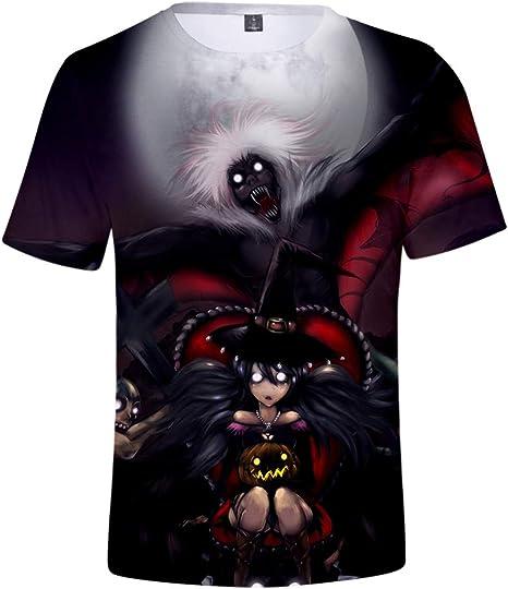 Hengye Technology Camiseta Casual para Hombre, Nueva Manga Corta de Halloween, Cuello Redondo Camisa cómoda 100% poliéster XL XXL,B,M: Amazon.es: Deportes y aire libre