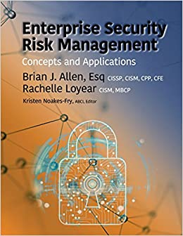 Book Enterprise Security Risk Management: Concepts and Applications