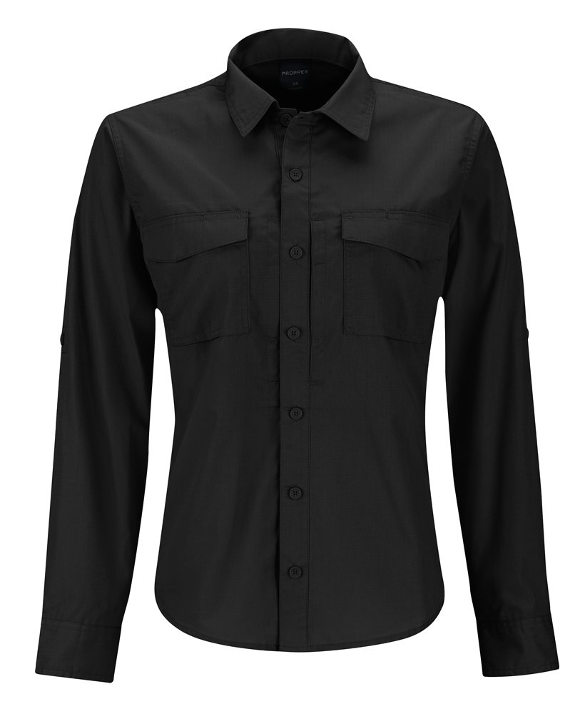 Black Propper Women's REVTAC Long Sleeve Shirt