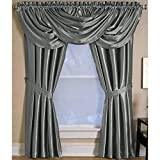 Cheap Elrene Home Versailles 52″x36″ Gray Back Tab Window Valance