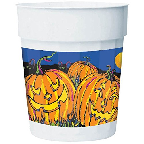 Halloween Night Plastic Party Cup, 16 Ounces