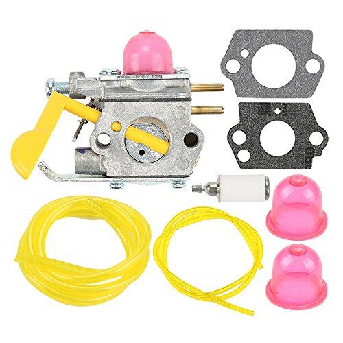 Harbot SST25 Featherlite Carburetor with Fuel Line Kit for Poulan Weed Eater FL20 FL20C FL23 FL25 FL26 FX26 MX550P 1500 P2500 P3500 P4500 XT260 XT700 TE475 SST25C Craftsman Trimmer C1U-W18 530-071822