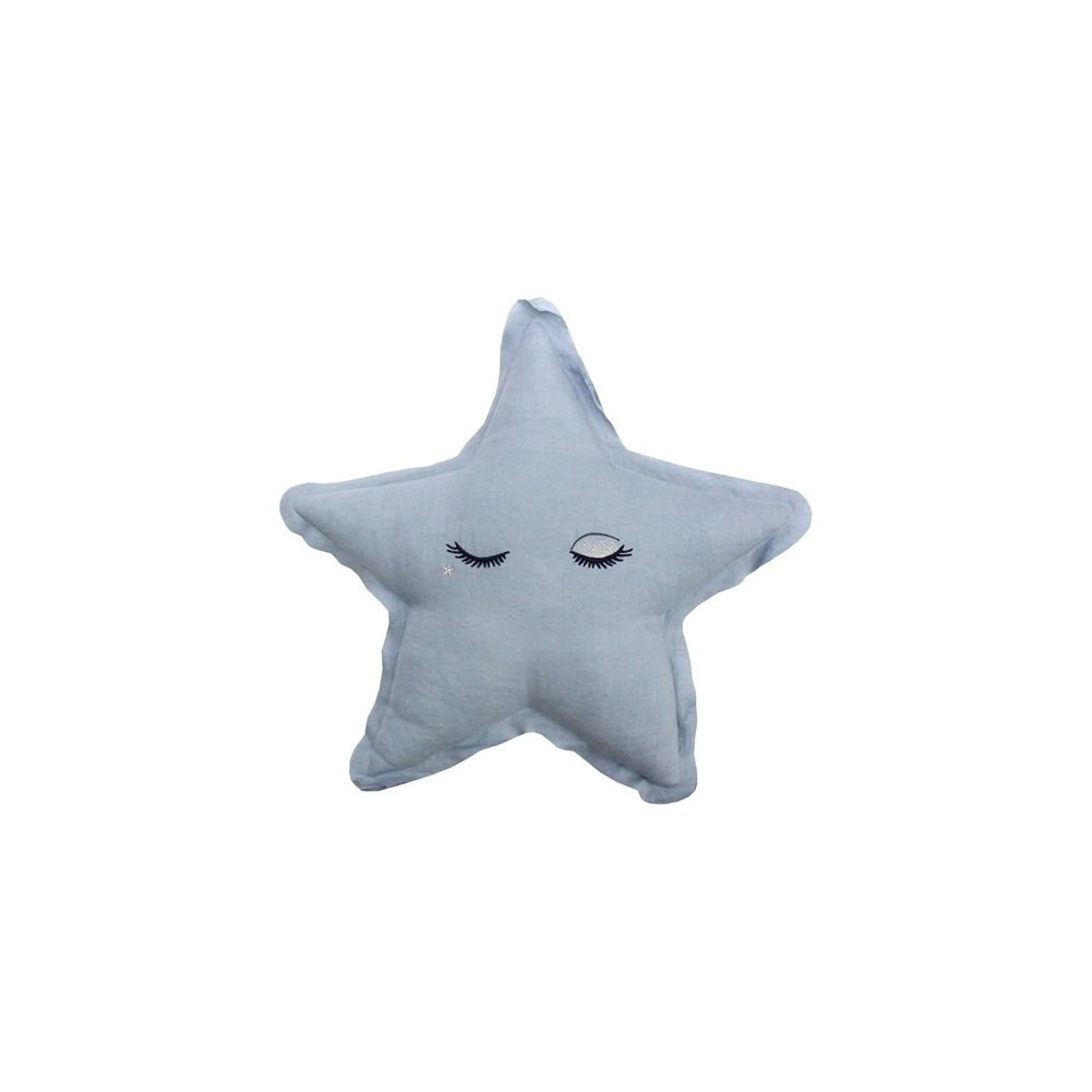 LMNOP Throw Pillow Character Cushion Star Cushion 19''x18'' Blue