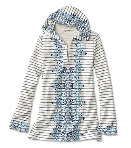 Embroidered Hoody Tunic - Orvis Women's Embroidered and Striped Tunic Hoodie, Large