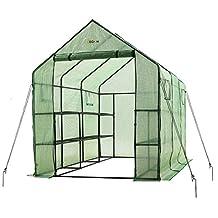 "Ogrow 2 Tier 12 Shelf Portable Garden Greenhouse with Windows - Measures 117"" L x 67"" W x 83"" H"