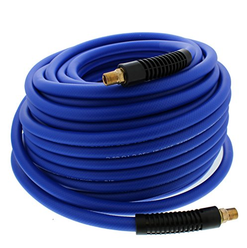 ABN Air Compressor Hose - 100ft Long 3/8 Air Hose All Weather-Proof Lightweight Hybrid 1/4in MNPT Ends, 300 PSI