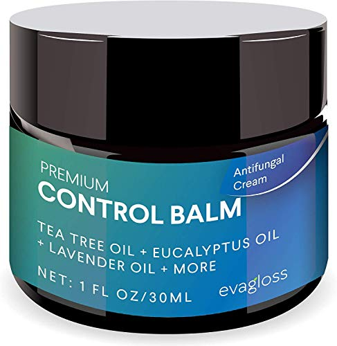 Evagloss Antifungal Cream Repair Anti-Itch Balm for Face & Body, Athletes Foot, Ringworm,Eczema, Dry Skin, Jock Itch,Nail Fungal Infections, Antibacterial Intense Moisture, Gentler and Safer
