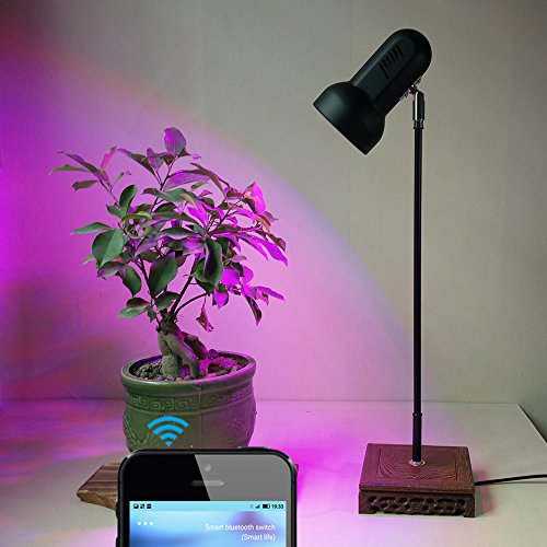 30W LED Plant Grow Lights Stand Desk Lamp with Smart Blue...