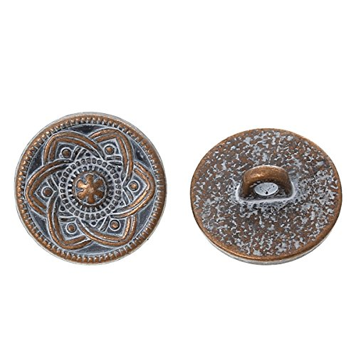 pepperlonely-brand-10pc-metal-shank-button-round-antique-copper-spray-painted-white-single-hole-flow