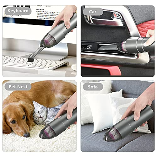 EASYOB Keyboard Cleaner, Mini Vacuum Portable Handheld Cordless Vacuum Cleaner, Rechargeable Vacuum Computer Cleaning Kit for Clean Car Interior, Laptop, Keyboard, Desk and Other Crevices