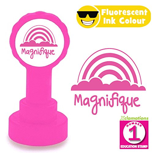 Fluorescent Pink Ink 22mm Quality Xclamations Stamp Magnifique ...