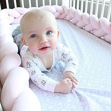 Almohada trenzada de felpa suave para bebé, para decoración de guardería, regalo para recién nacido rosa rosa Talla:1m WANGLAI