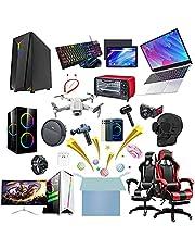 Mystery Box Elektronisk,Överraskningslåda,De Senaste Mobiltelefonerna, Drönarna, Smarta Klockorna, Svepande Robotar Etc. Allt Är Möjligt!