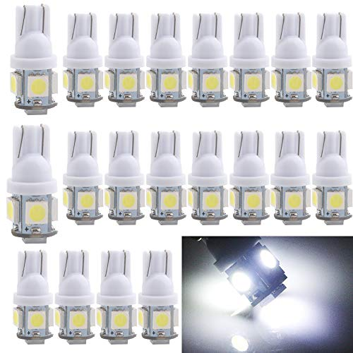 Skill Stop Machine Pachislo - EverBright 20-Pack DC 24V White T10 194 168 2825 W5W 5050 5-SMD LED Bulb For Car Replacement Interior Lights Clearance Wedge Dome Trunk Dashboard Bulb License Plate Light Lamp