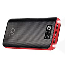 CXLiy モバイルバッテリー 大容量 24000mAh 携帯充電器 LCD残量...