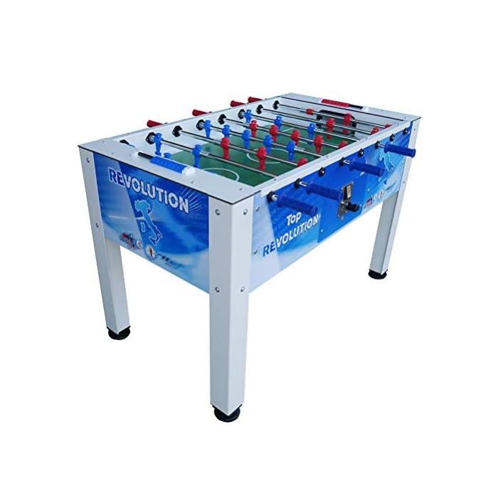 51O7PpWV5cL Tamaño de la superficie de juego: 113 x 70 cm. Tamaño total del juego: 138 x 110 x 90 cm. Tamaño de la caja: 138 x 80 x 35 cm.