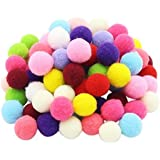 ZJlncpz Pompoms Craft Assorted Colors Acrylic Hobby Supplies 1 Inch Round Pack of 250