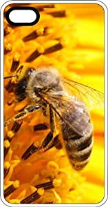 Honey Bee Stealing Nectar from Yellow Flowers White Rubber Case for Apple iPhone 5 or iPhone 5s
