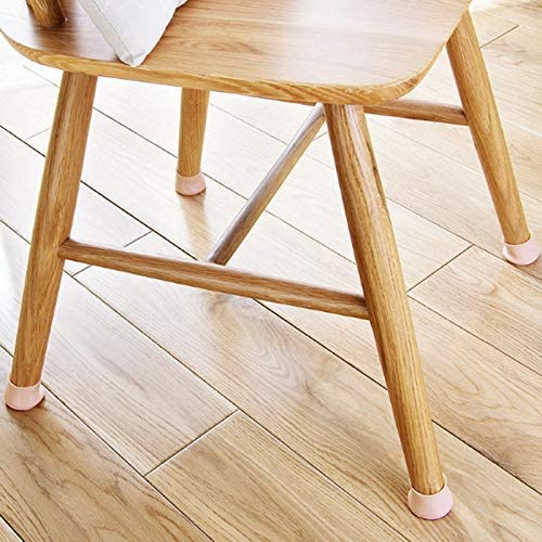 Lanbowo Meuble Pieds Patins Chaise Jambe Capuchons Silicone Meuble Jambe Protection Housse Table Pieds Patin Protection Sol pour Maison 16PCS Transparent