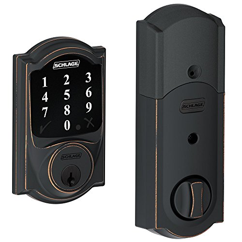 Schlage Lock Company BE468CAM716 Connect Camelot Touchscreen Deadbolt, Aged Bronze Schlage Lock Company