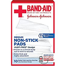 BAND-AID First Aid Non-Stick Pads, Medium, 2 in x 3 in, 10 ea (Pack of 10)