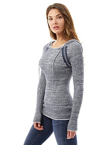 Bianco raglan maglione felpa Scuro Donne E Blu PattyBoutik Galestroso 8R176w7q