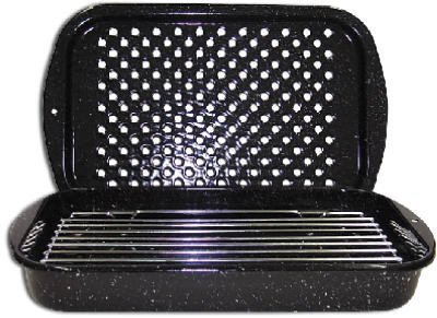 Columbian Home Products 3Pc Broiler Pan/Rack 0513-2 Cookware Ceramic On Steel Open Stock by Columbian Home (Image #1)