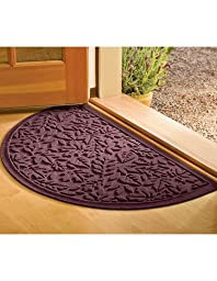 Fall Leaves Water Glutton Half-Round Mat, 24\