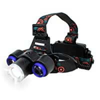 BLACK MAMUT Linterna de Cabeza Minera de Leds 3 Modos de Uso 3000 LUMENS para Acampar, Casa, Oficina Deportes y Apagones (
