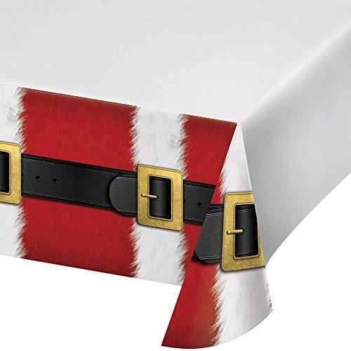 Border Platter (Creative Converting Border Print Plastic Tablecover, Santa's Suit)