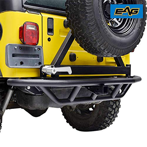 EAG Rear Bumper with Tire Carrier & 2