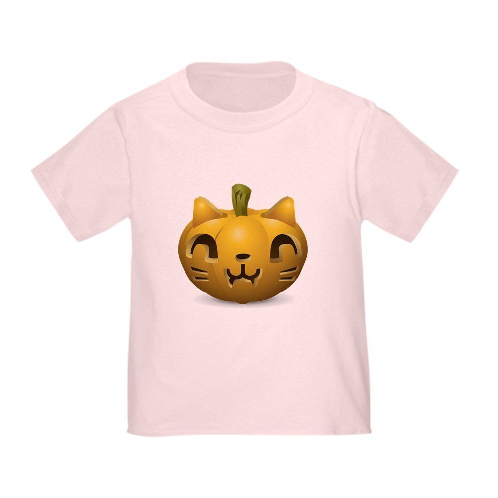 Truly Teague Toddler T-Shirt Kitty Cat Halloween Jack-O-Lantern