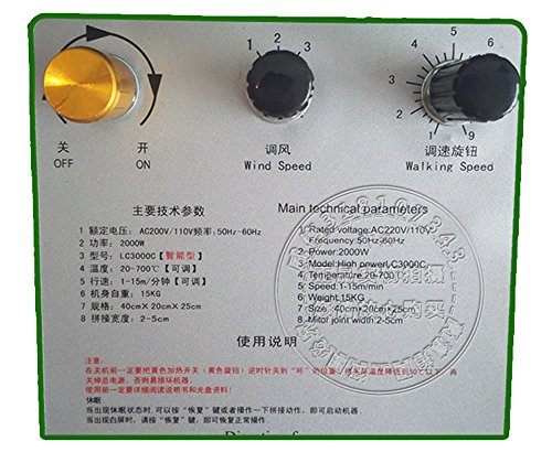 BAOSHISHAN 1800W PVC Banner Welder TPO Roofing Tools Hot Air Seamless Splicing Welding Machine 2-4cm Width 0.2-2mm Thick Flex Banner (220V) by BAOSHISHAN (Image #4)