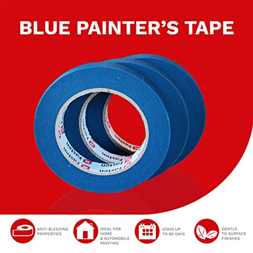 XFasten Blue Painters Tape, Multi-Use, 3/4 Inches x 60 Yards (Pack of 3)