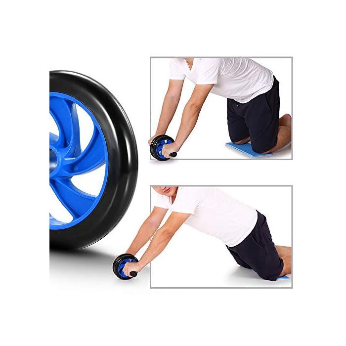 Juego de 8 ejercicios con banda de resistencia AB rueda rodillo yoga saltar cuerda cuerda y rodillera equipo port/átil para ejercicio en el hogar Fitness